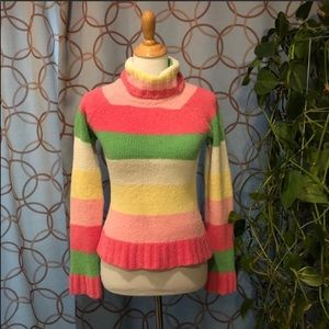 Energie Striped Chenille Turtleneck Sweater Jr Med